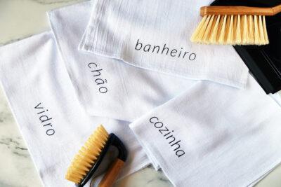 Kit de panos de limpeza